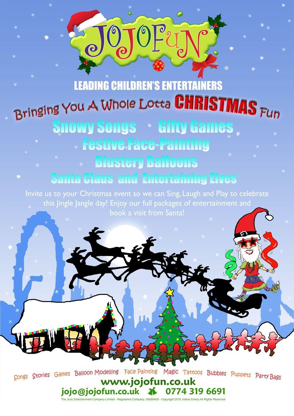JoJoFun Christmas Party Children's Entertainers London